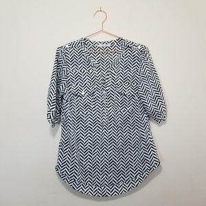 41 Hawthorn Chevron pattern blouse (c)